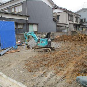 新築配管埋める