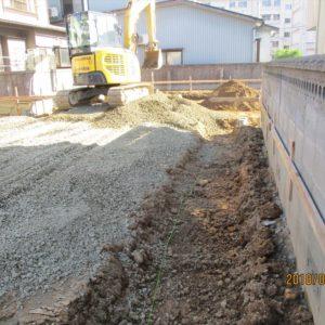 基礎掘削作業